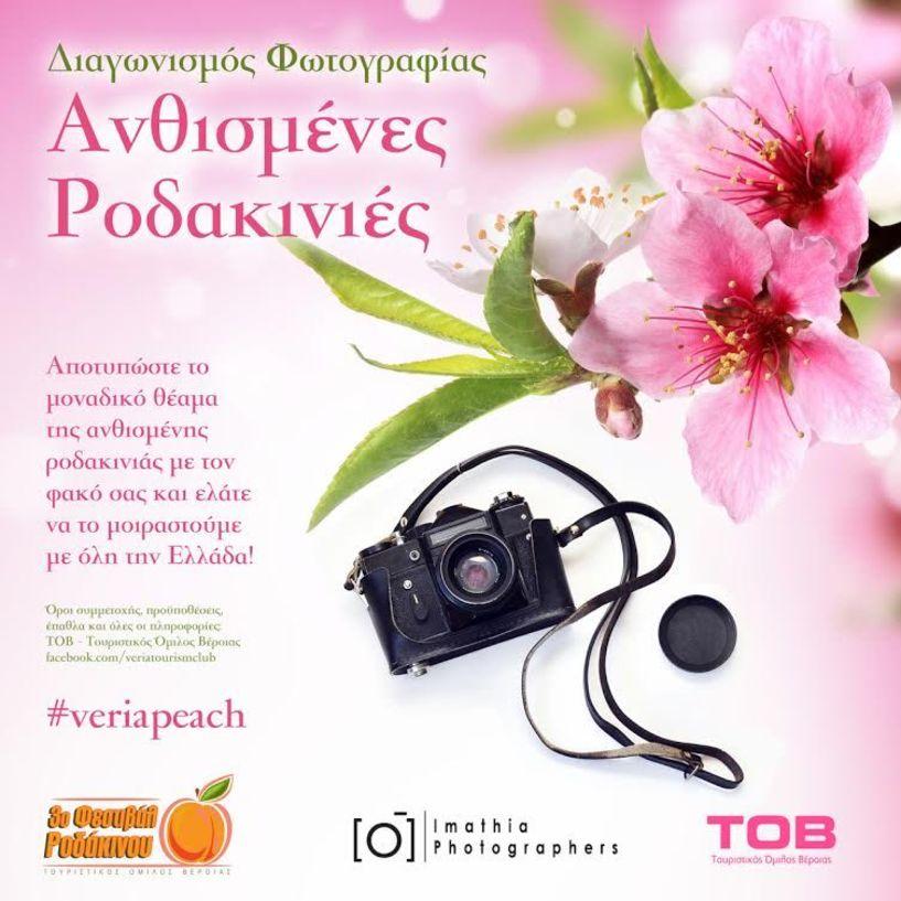 Διαγωνισμός φωτογραφίας «Ανθισμένες Ροδακινιές» από τον Τουριστικό Όμιλο Βέροιας