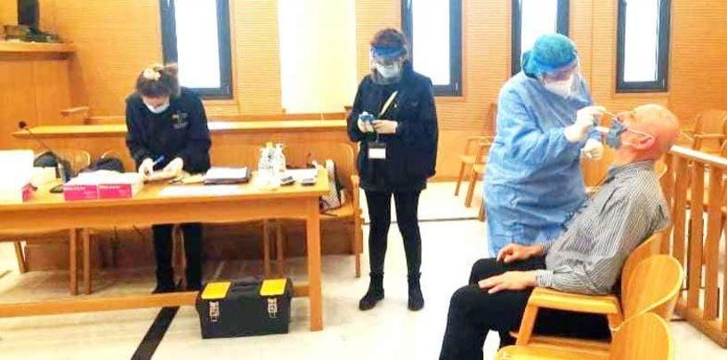 Αρνητικά και τα 60 Rapid Test χθες στα Δικαστήρια Βέροιας