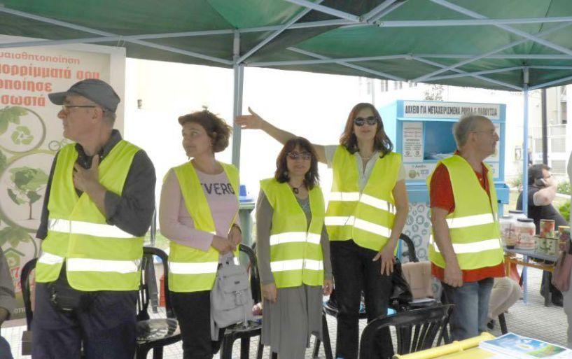 Η διαδρομή των σκουπιδιών, τα «ρεύματα»  διαχείρισής τους και ο εθελοντισμός,  χθες στην Πλατεία Δημαρχείου Βέροιας