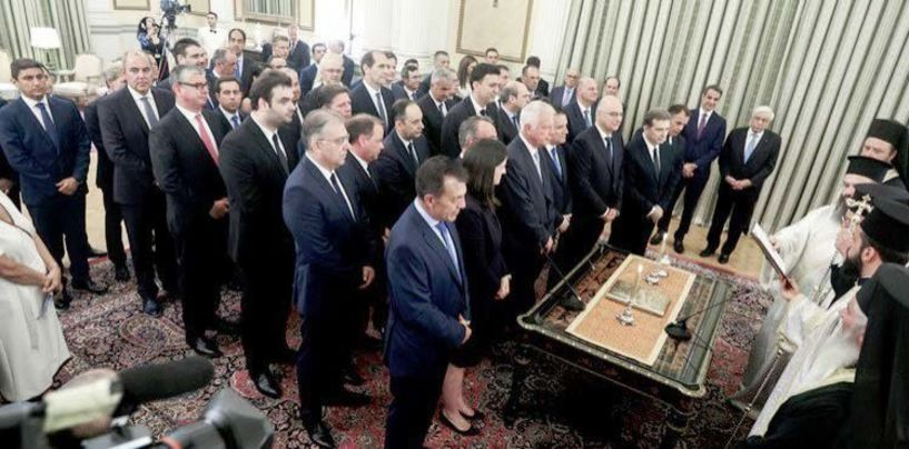 Ορκωμοσία με παράδοση-παραλαβή Υπουργείων χθες   και σήμερα η πρώτη συνεδρίαση του υπουργικού συμβουλίου