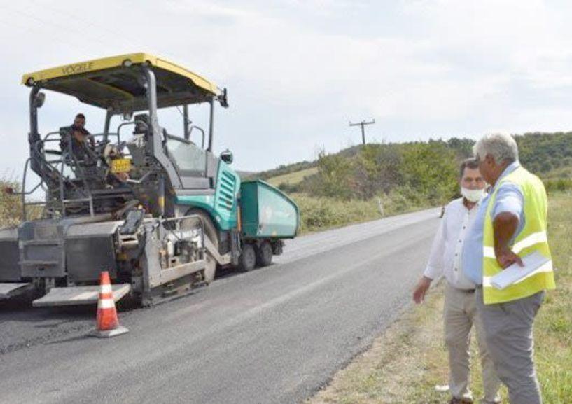 Ολοκληρώνονται σήμερα οι εργασίες αποκατάστασης του οδοστρώματος από Αγία Τριάδα έως Κυψέλη