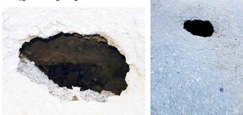 Επικίνδυνη τρύπα στην άσφαλτο μπροστά στο Αρχαιολογικό Μουσείο επί της Ανοίξεως