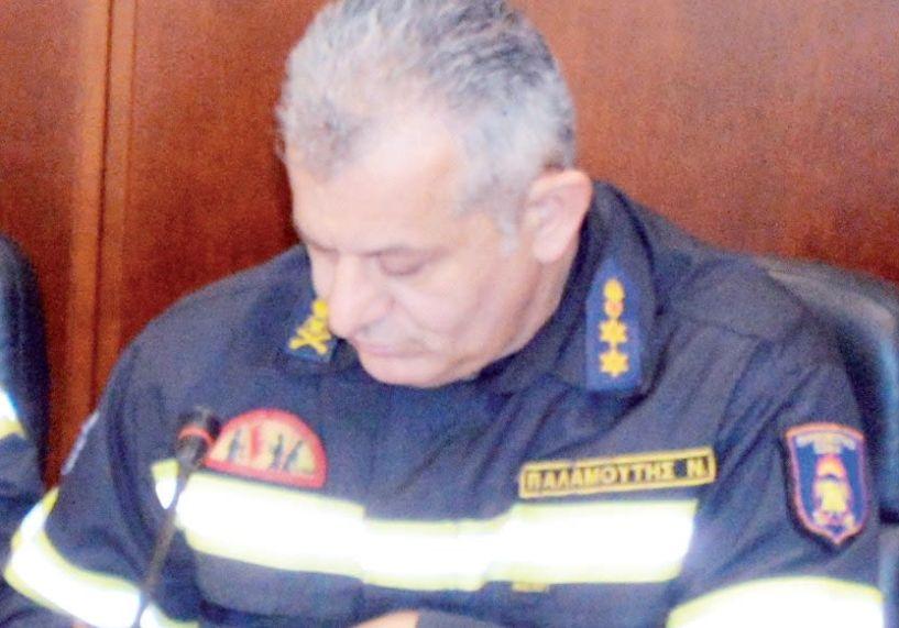 Ο Νίκος Παλαμούτης  διοικητής  της Πυροσβεστικής Ημαθίας