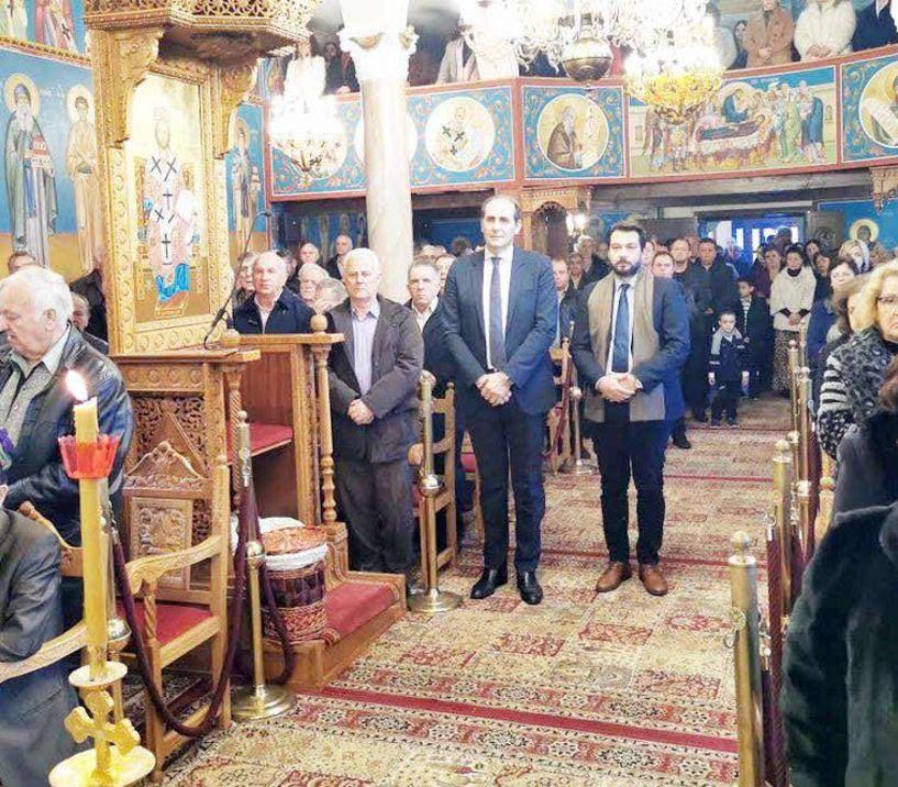Τον Αγ. Αθανάσιο Ριζωμάτων τίμησαν ο Υφυπ. Οικονομικών Απ. Βεσυρόπουλος  και ο βουλευτής Ν.Δ.  Τ. Μπαρτζώκας
