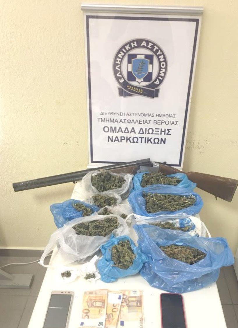 Συνελήφθη 58χρονος   στην Ημαθία για καλλιέργεια και διακίνηση κάνναβης