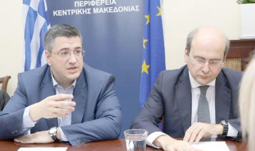 Οι αναπτυξιακές προτεραιότητες και προοπτικές της Κεντρικής Μακεδονίας στο επίκεντρο της συνάντησης Α. Τζιτζικώστα και Κ. Χατζηδάκη