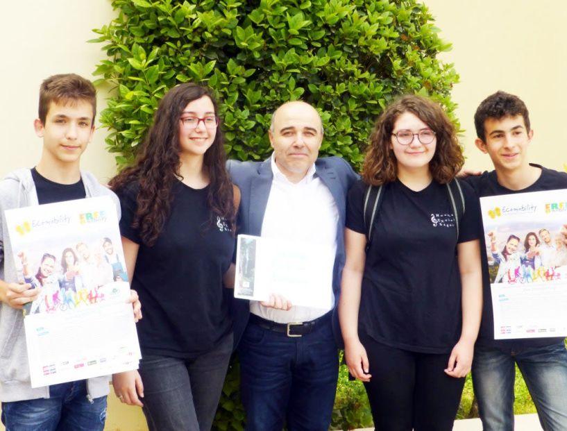 Βράβευση του Μουσικού Σχολείου Βέροιας στον πανελλαδικό διαγωνισμό Ecomobility