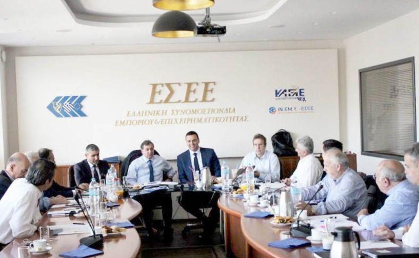 Με επίκεντρο τα σημαντικά θέματα  των επιχειρήσεων και του εμπορίου  συνεδρίασε το Διοικητικό Συμβούλιο της ΕΣΕΕ
