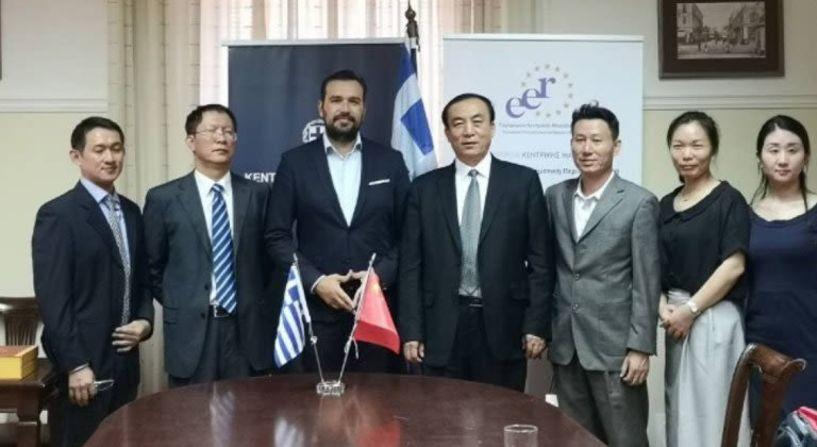 Στρατηγική συνεργασία της Περιφέρειας  Κ. Μακεδονίας με επαρχίες της Κίνας