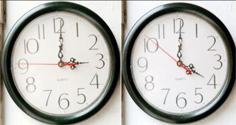 Μία ώρα μπροστά τα ρολόγια τα ξημερώματα  της Κυριακής