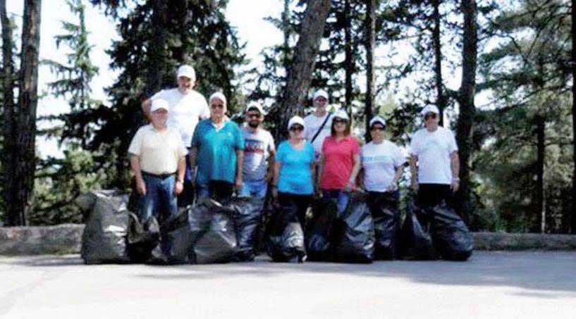 Οι εργαζόμενοι του ΟΤΕ Ημαθίας καθάρισαν  το Άλσος Παπάγου