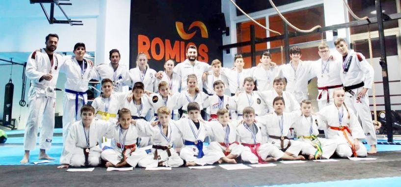 3ος μεταξύ 21 αθλητικών συλλόγων στην τελική κατάταξη μεταλλίων τερμάτισε ο ΑΣ Ρωμιός στο κύπελλο Jiu-Jitsu Θράκης 2018