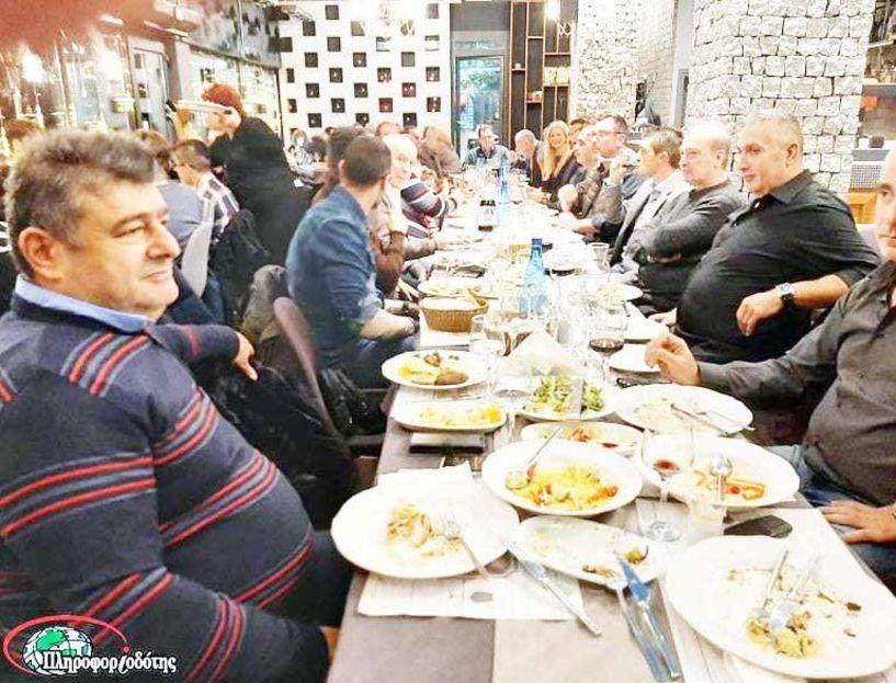 Τραπέζι στους εθελοντές της πολιτικής προστασίας  από τον αντιπεριφερειάρχη