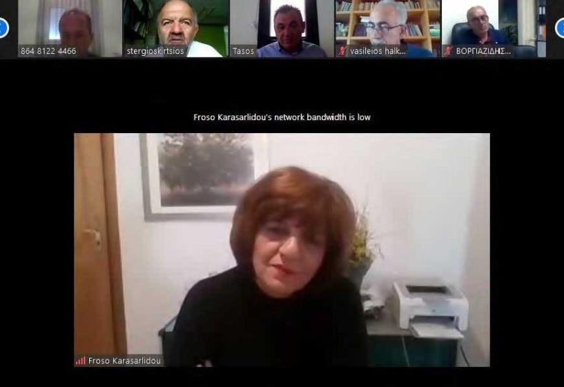 Φρόσω Καρασαρλίδου: Τηλεδιάσκεψη με Δήμαρχο Βέροιας, εκπροσώπους αγροτικών φορέων και εμπόρων για τις επιπτώσεις της πανδημίας στον αγροτικό τομέα