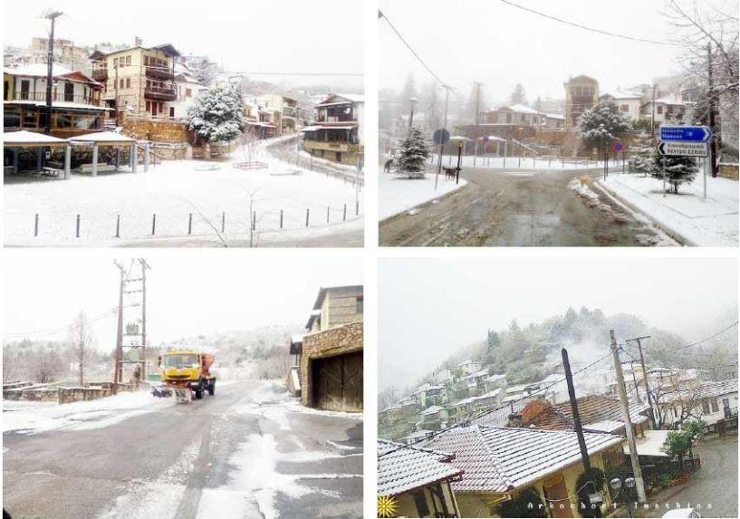 Έπεσε το πρώτο χιόνι στα ορεινά της Ημαθίας