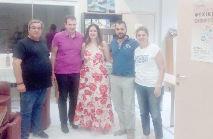 Η Ξένια Καζαντζή, από τη Διεύθυνση Ψυχικής Υγείας του  Υπουργείου, επισκέφθηκε τον  Κοι.Σ.Π.Ε. και τον Σ.Ο.Φ.Ψ.Υ Ημαθίας
