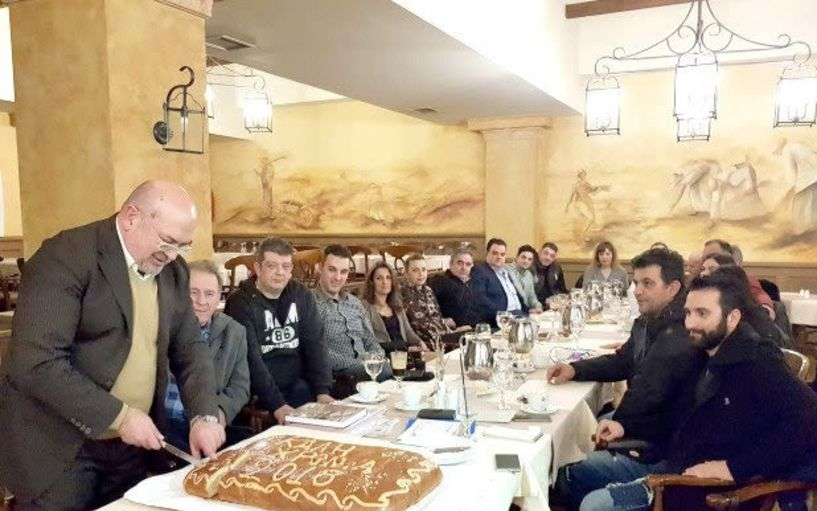 Mε αναφορές στα προβλήματα του κλάδου τους  οι ζαχαροπλάστες της Βέροιας έκοψαν την πίτα τους