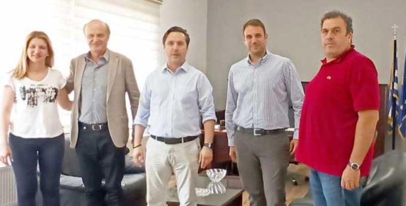 Συνάντηση χθες του δημάρχου με στελέχη της EDIL HELLAS  Με βήμα ταχύ, οι διαδικασίες  για σύνδεση της Νάουσας   με το δίκτυο φυσικού αερίου