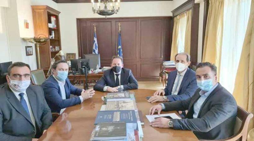 Διαδοχικές συναντήσεις του Δημάρχου Νάουσας στην Αθήνα με Στ. Πέτσα και Απ. Βεσυρόπουλο