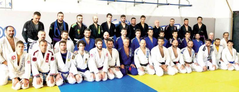 Σε ακόμα ένα σεμινάριο Brazilian Jiu-Jitsu αθλητές του ΑΣ Ρωμιός