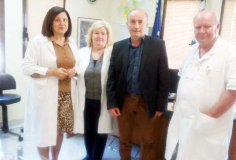 Επίσκεψη του υποψ. Περιφερειακού συμβούλου  Β. Κωνσταντινόπουλου στο ΚΥ Βέροιας