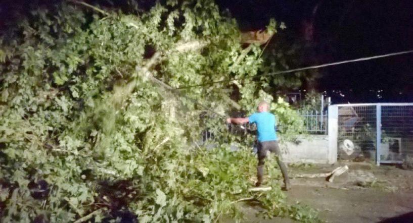 Καταστροφικό μπουρίνι χτύπησε χθες την Ημαθία