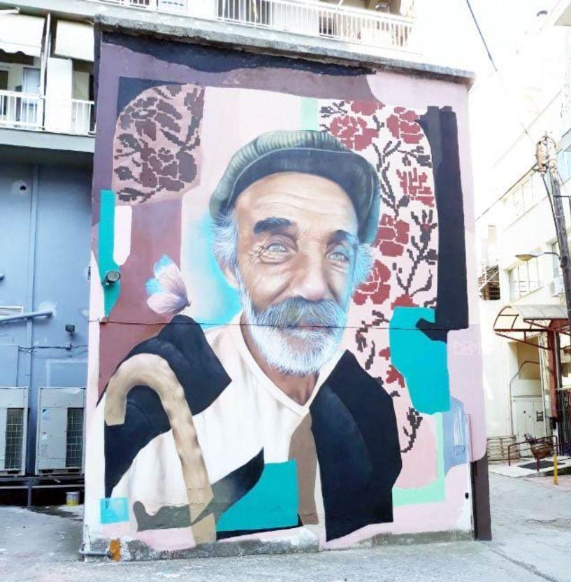Ένα τεράστιο γκράφιτι ομόρφυνε την οδό Μούμογλου