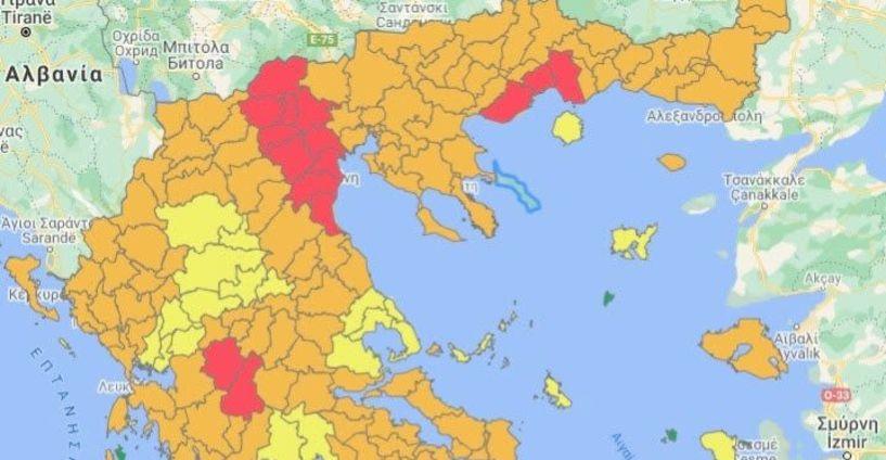 Στο «κόκκινο» του επιδημιολογικού χάρτη η Ημαθία, με 757 κρούσματα από τις αρχές Σεπτεμβρίου