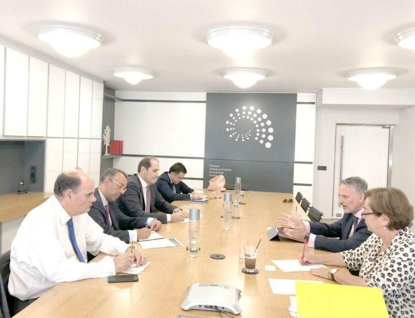 Επίσκεψη Σταϊκούρα, Βεσυρόπουλου και Φορτσάκη  στην Ένωση Ασφαλιστικών Εταιρειών Ελλάδος, για το ρόλο και τη συμβολή της ασφάλισης στην οικονομία
