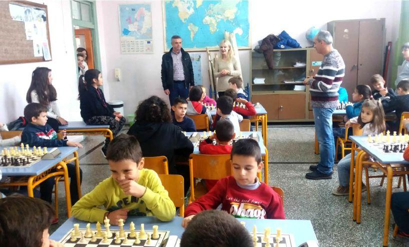 Ενδοσχολικό πρωτάθλημα σκακιού στο 5ο Δ.Σχ. Νάουσας