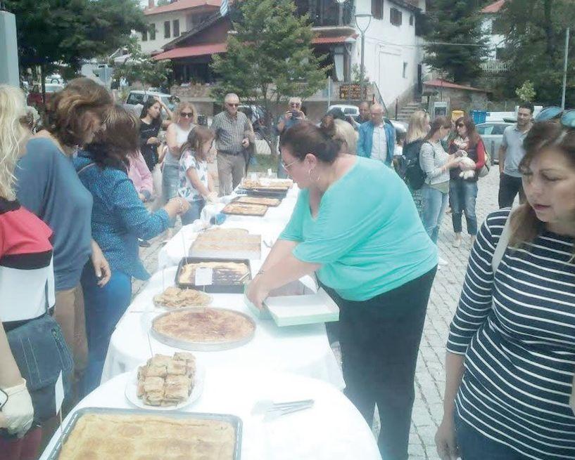 Νοστιμότατες οι πίτες στο Σέλι,  αλλά η βρύση χωρίς νερό