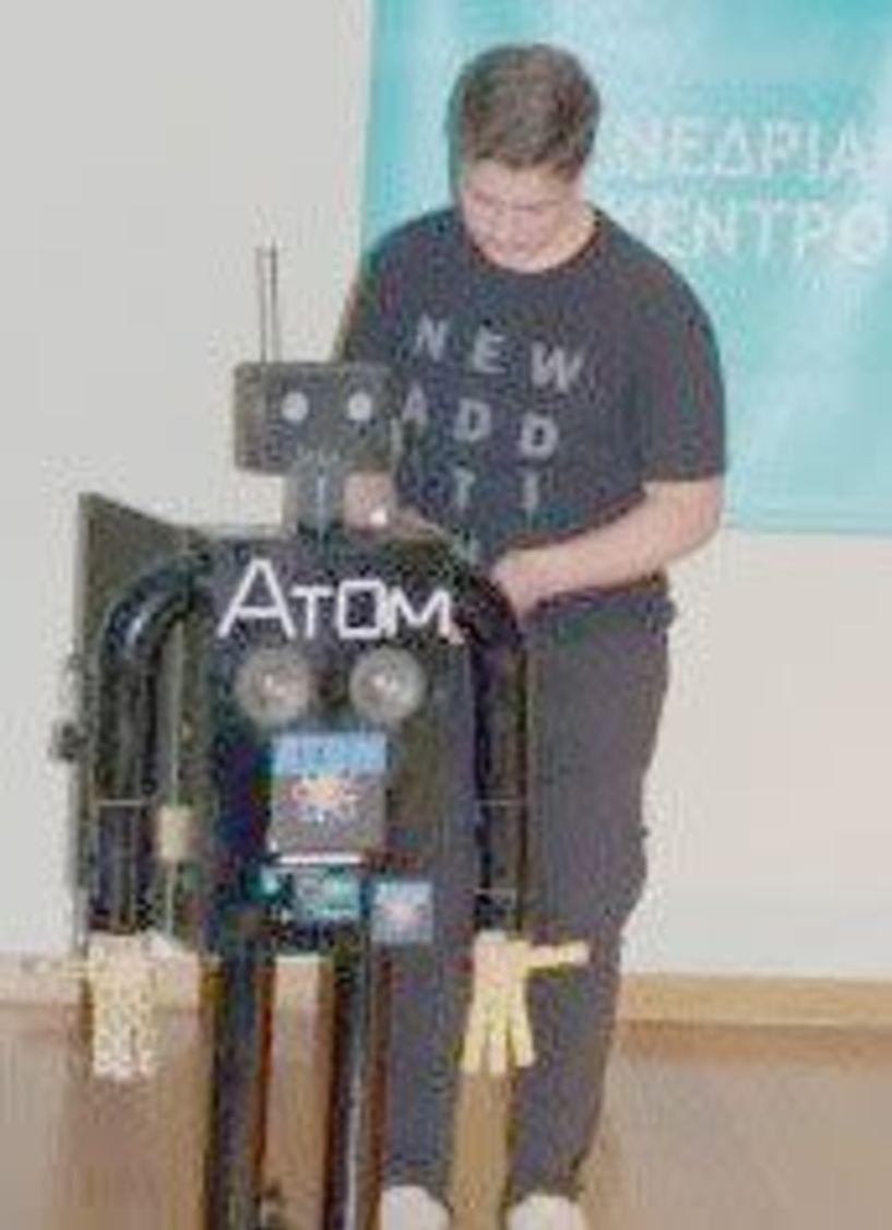 Στο ΝΟΗΣΙΣ το «ΑΤΟΜ- Ανθρωπόμορφο ρομπότ» του μαθητή Π. Γιαλαμά από το Γυμνάσιο Κοπανού