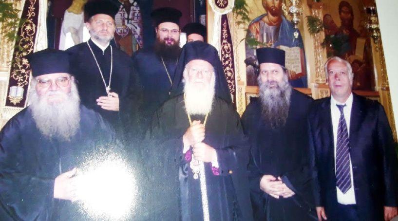 Ο Αποστόλης  Εμμανουηλίδης πριν από 11 χρόνια  με τον νέο Αρχιεπίσκοπο Αμερικής