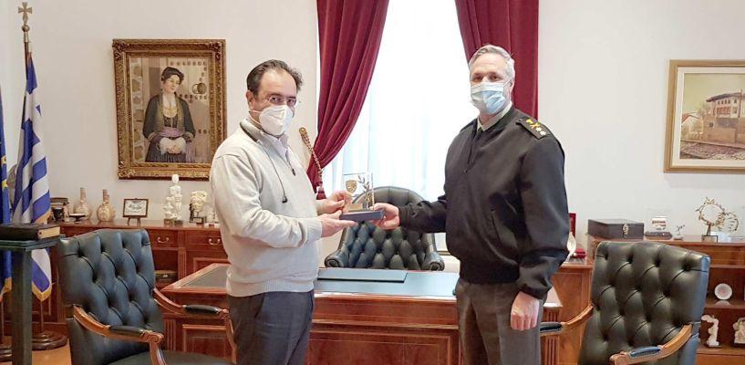 Συνάντηση του Δημάρχου Βέροιας με τον απερχόμενο Διοικητή της 1ης Μεραρχίας Πεζικού