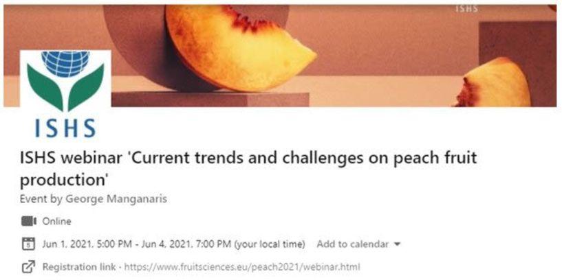 Ξεκινά σήμερα 1 Ιουνίου  το Διεθνές Επιστημονικό  Διαδικτυακό Συνέδριο για τις  σύγχρονες τάσεις και προκλήσεις στην καλλιέργεια ροδακινιάς