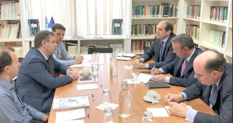 Με την τον Γενικό διευθυντή και στελέχη του ΙΟΒΕ συναντήθηκαν Σταϊκούρας, Βεσυρόπουλος και Φορτσάκης