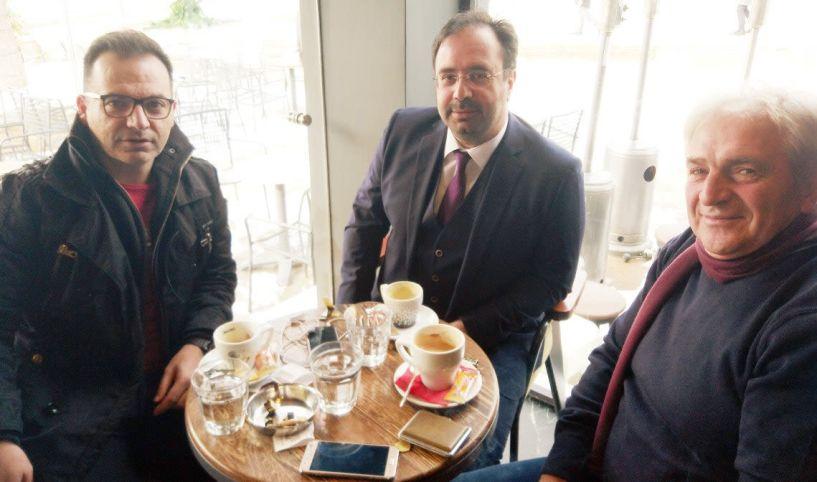 O δήμαρχος με τον αντιδήμαρχο Οικονομικών  και νέο υποψήφιο (;)