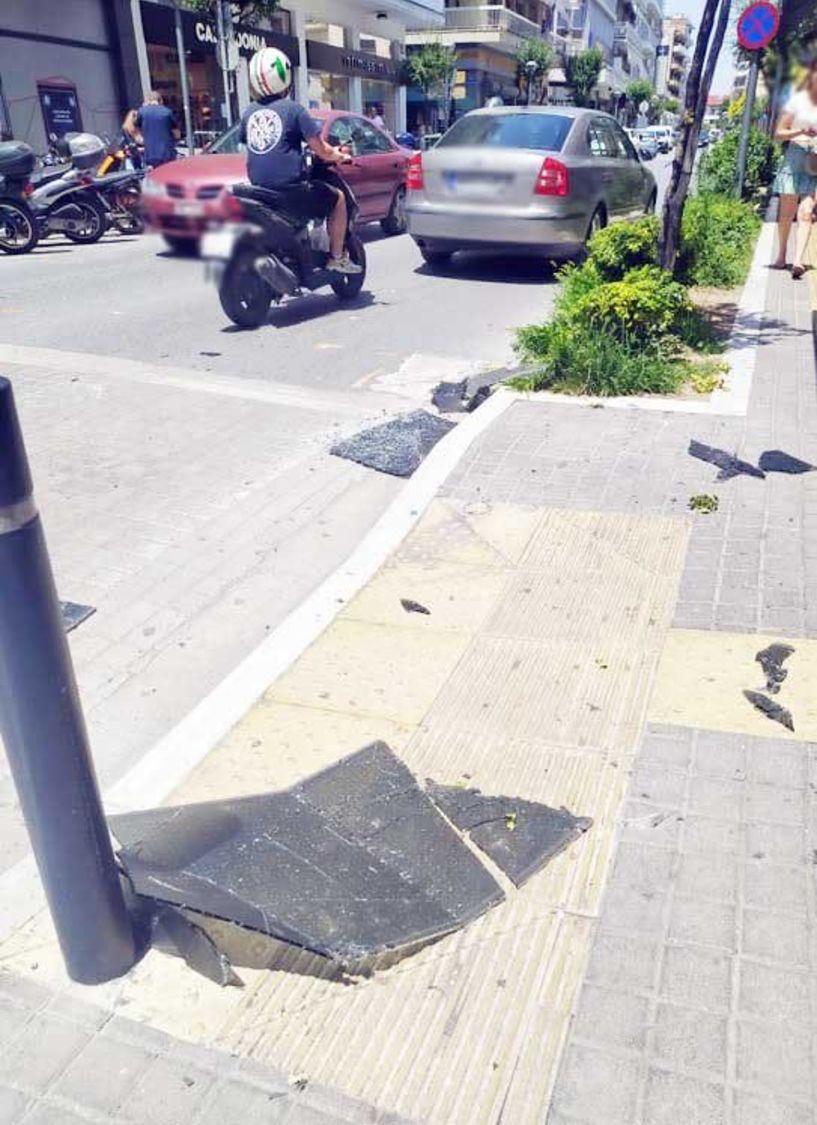 Κομμάτια πλεξιγκας έπεσαν από μπαλκόνι στη Βενιζέλου - Παρά τρίχα γλύτωσαν μητέρα με παιδί που περνούσαν από κάτω…