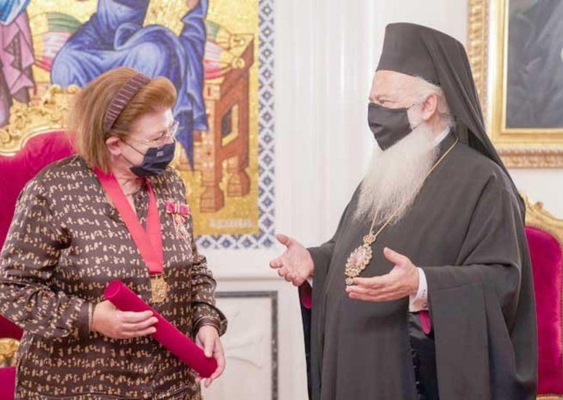 Εθιμοτυπική επίσκεψη της Υπουργού Πολιτισμού Λίνας Μενδώνη στον Μητροπολίτη Βεροίας