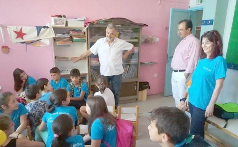 «ΚΑΛΟΚΑΙΡΙ ΣΤΗΝ ΠΟΛΗ ΜΟΥ»  Ο Δήμαρχος Βέροιας στο 4ο Δημοτικό Σχολείο