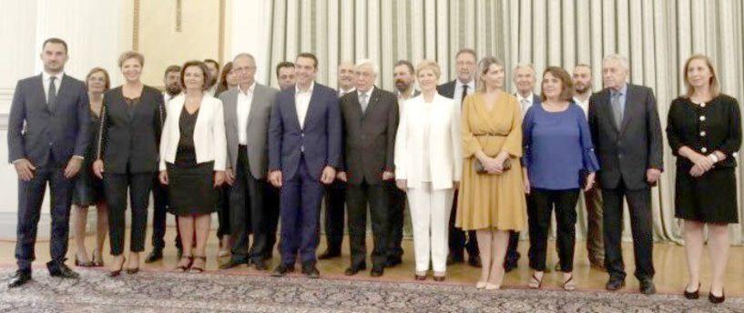 Ενώπιον του Προέδρου της Δημοκρατίας και παρουσία του Πρωθυπουργού Ορκίστηκαν τα νέα μέλη της κυβέρνησης