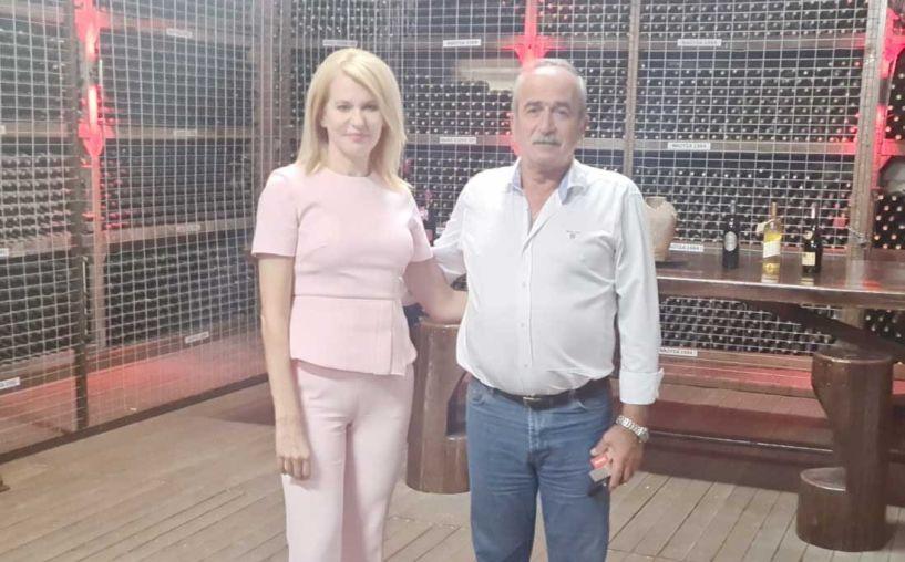 Συνεργασία της Θ. Τζάκρη με τον Πρόεδρο του VAENI-Νάουσα Γ. Φουντούλη, για τις εξαγωγές του Ξινόμαυρου σε όλο τον κόσμο