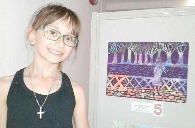 Ο ΠΡΟΜΗΘΕΑΣ συγχαίρει  μαθήτρια του Συλλόγου για διάκρισή της σε διαγωνισμό ζωγραφικής