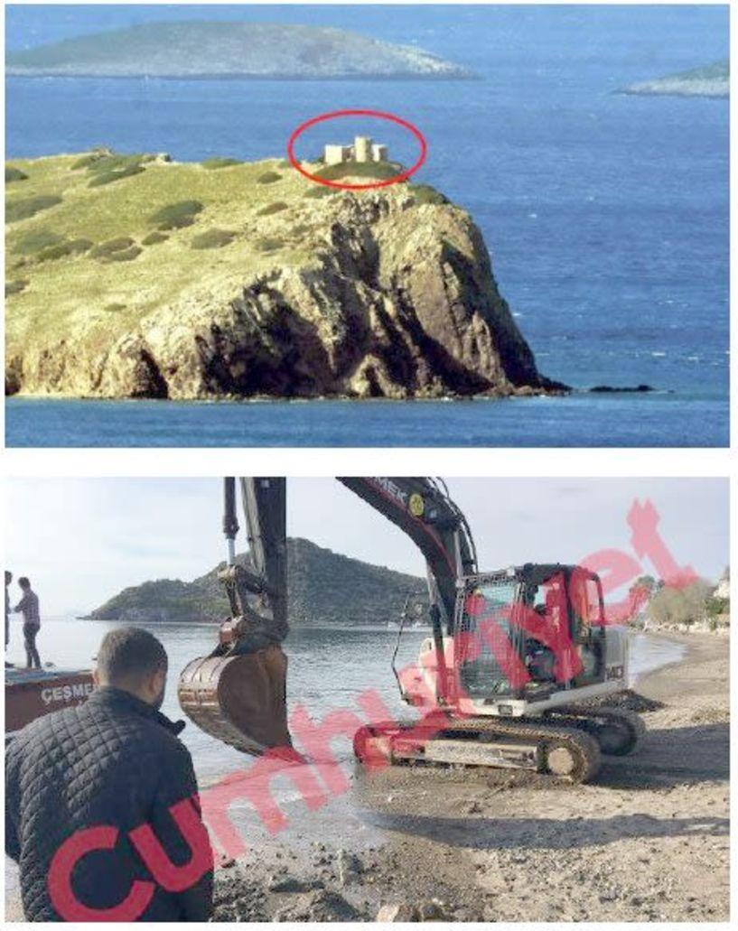 Χτίζουν στρατιωτικό φυλάκιο δίπλα  στα Ίμια οι Τούρκοι