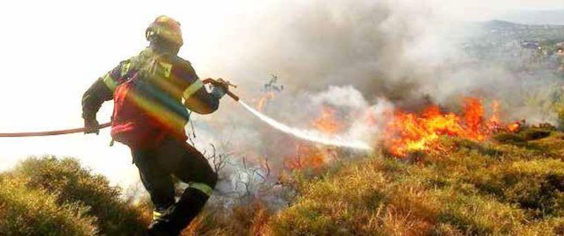 Φωτιά σε δασική έκταση χθες στο Νεόκαστρο