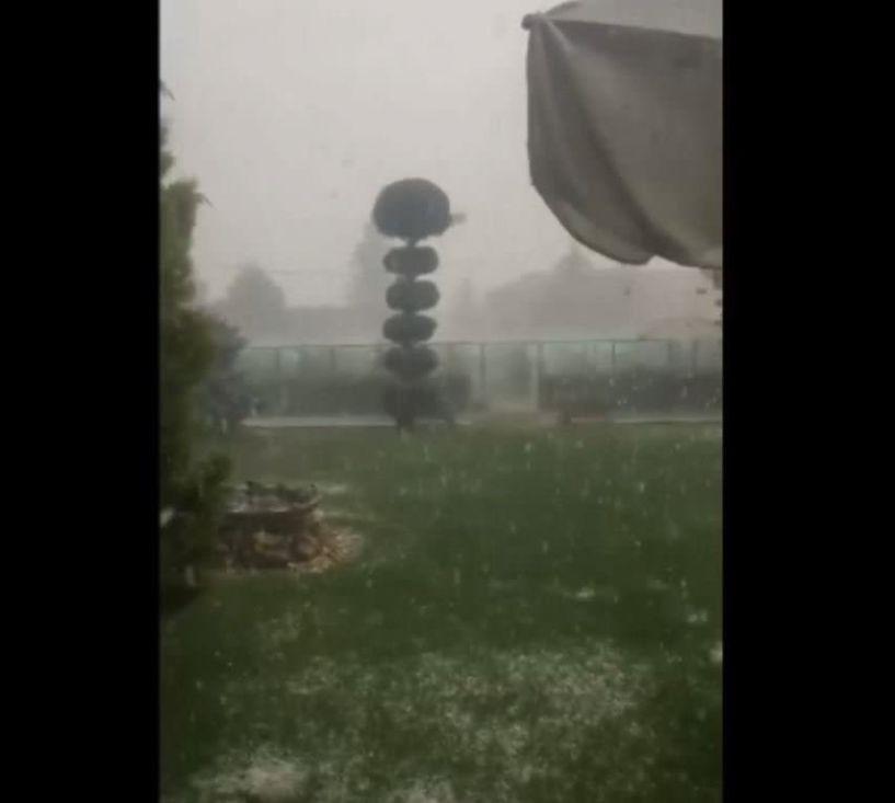 Τρελό χαλάζι στην Ξηρολίμνη Κοζάνης! (Βίντεο)