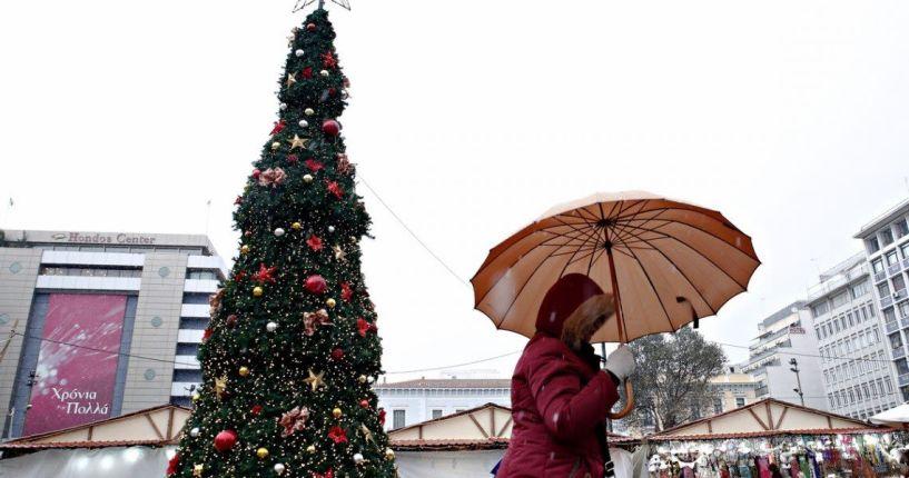 Η πρόγνωση του καιρού για τις ημέρες των Χριστουγέννων